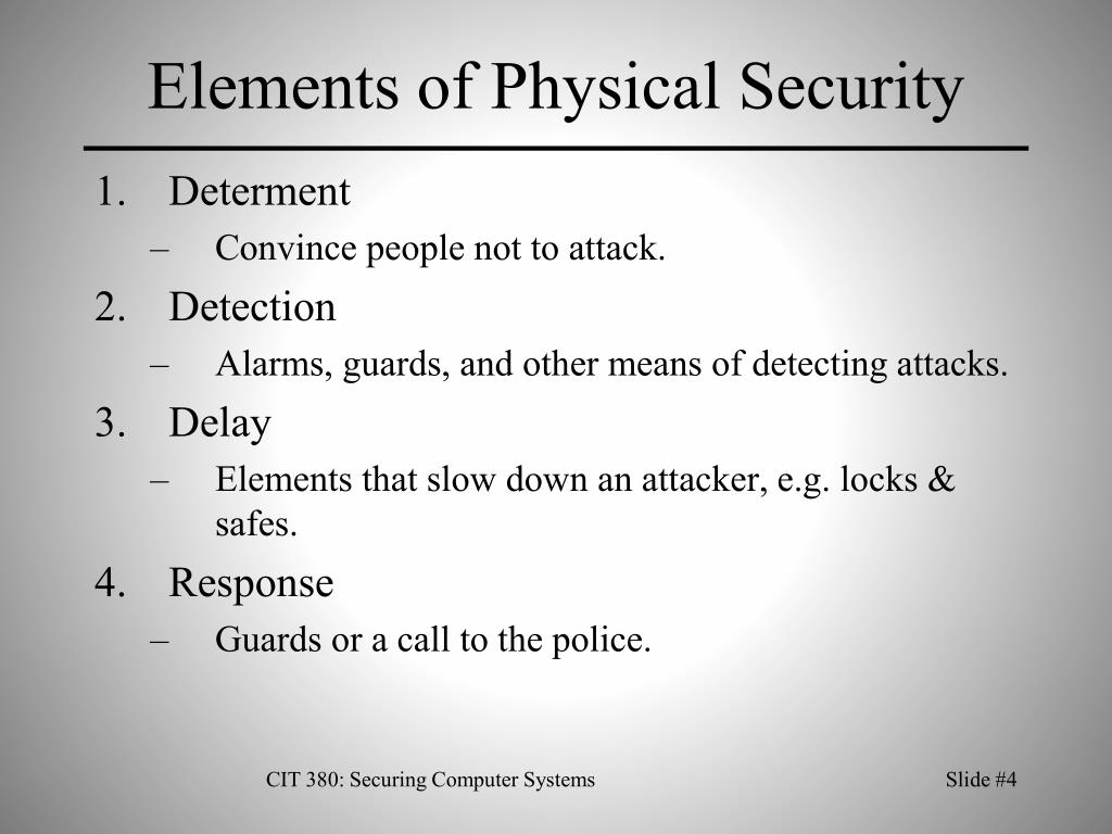 Elements of Physical Security