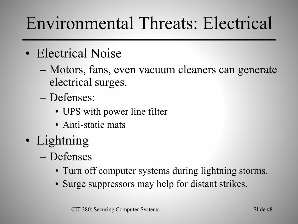 Environmental Threats: Electrical