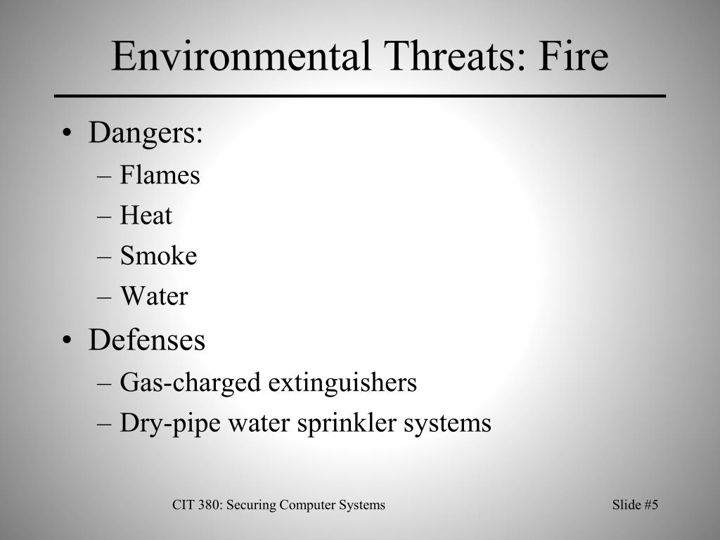 Environmental Threats: Fire