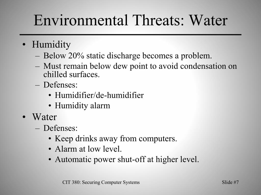 Environmental Threats: Water