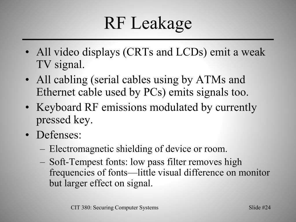 RF Leakage