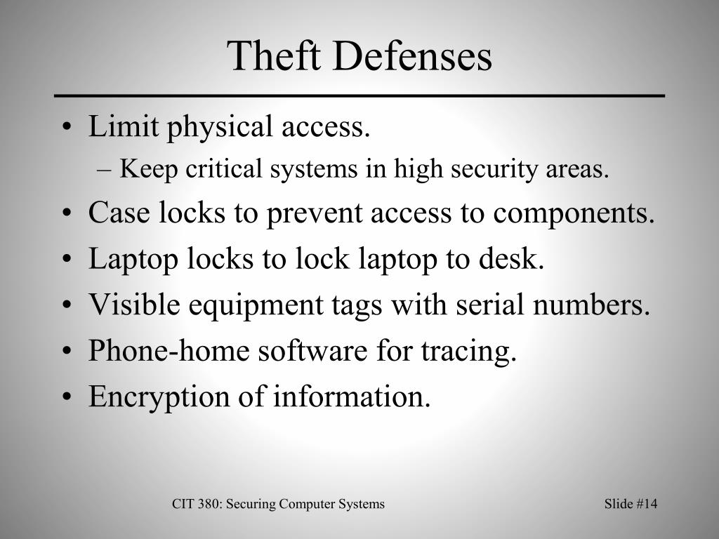 Theft Defenses