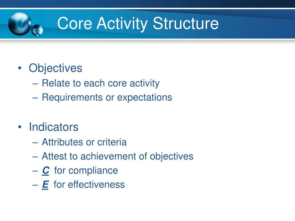 Core Activity Structure