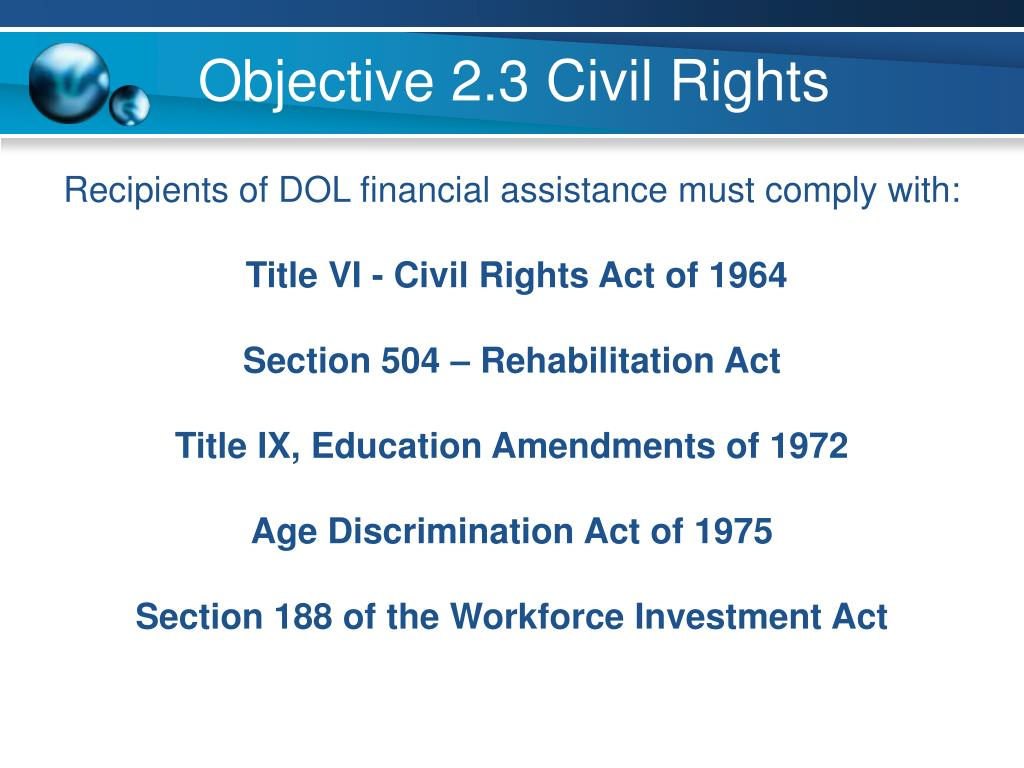 Objective 2.3 Civil Rights