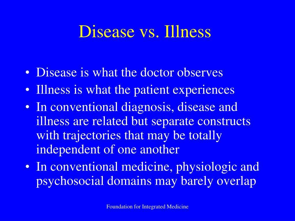 Disease vs illness