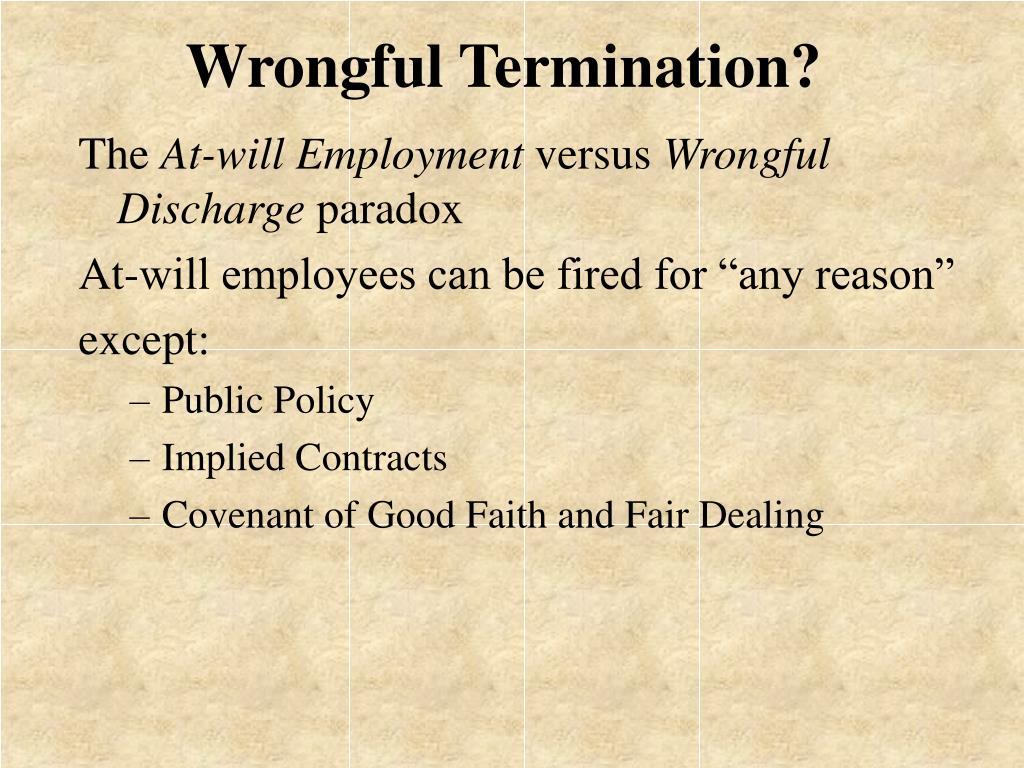 Wrongful Termination?
