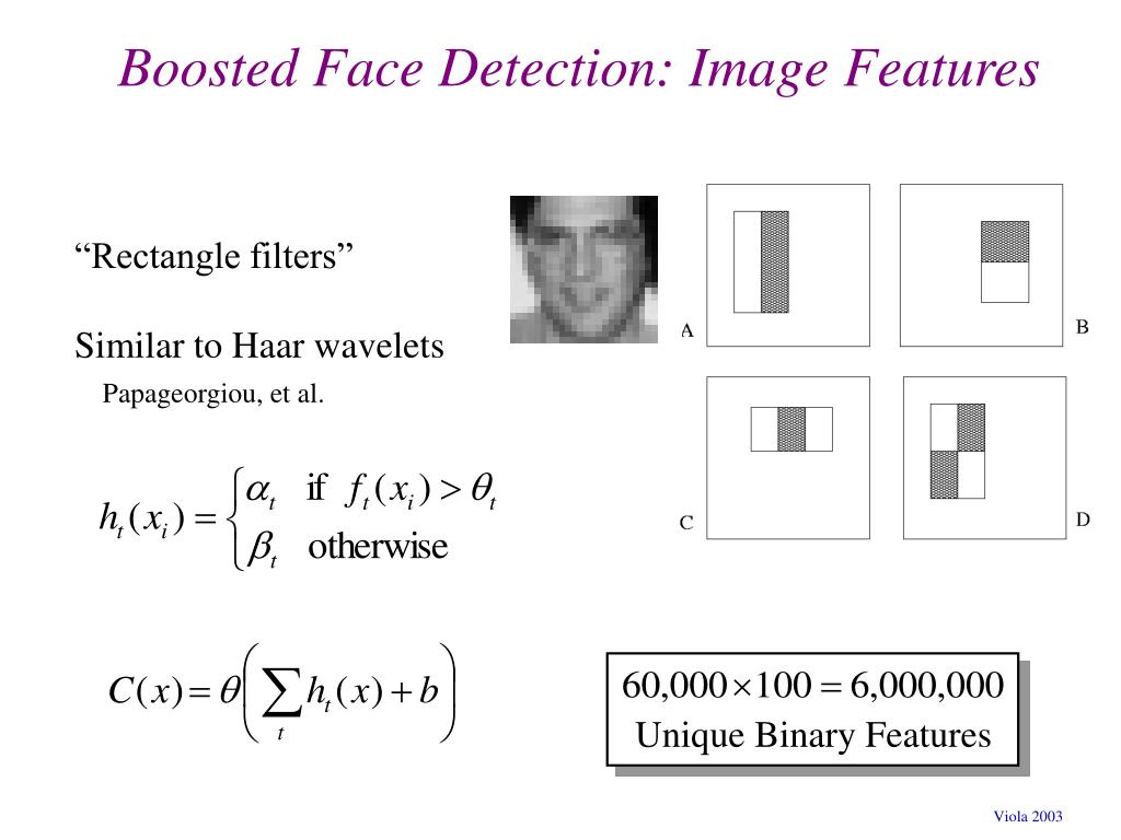 Boosted Face Detection: Image Features