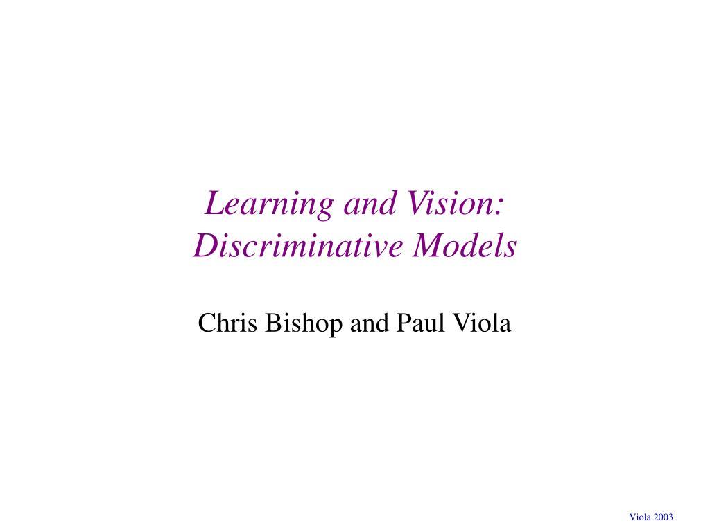 learning and vision discriminative models