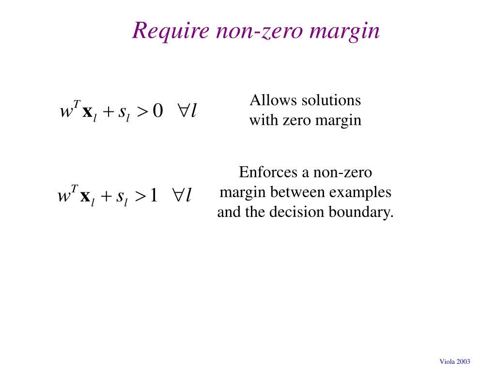 Require non-zero margin