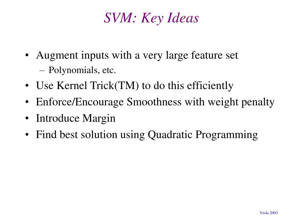 SVM: Key Ideas