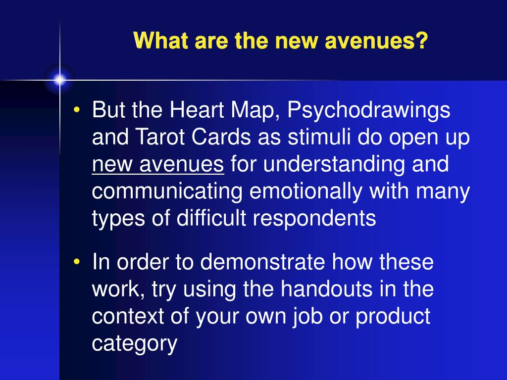 What are the new avenues?