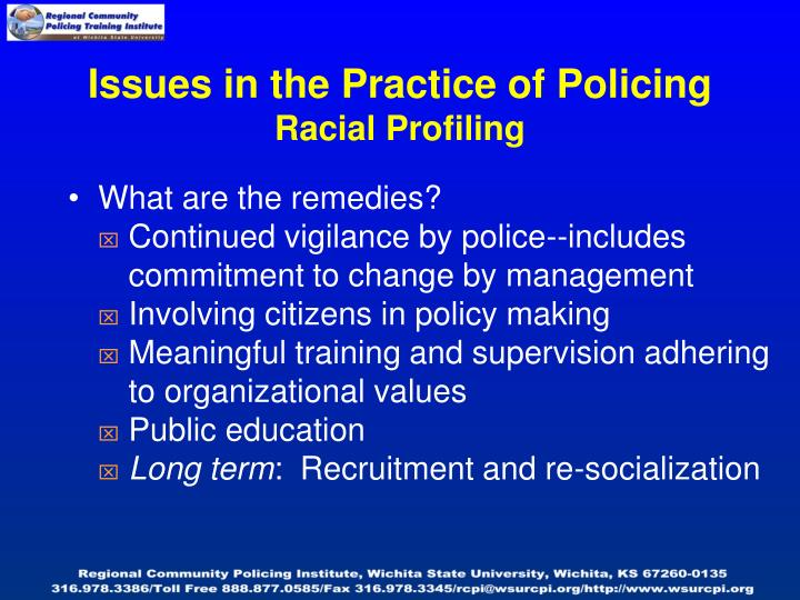 Issues in the Practice of Policing