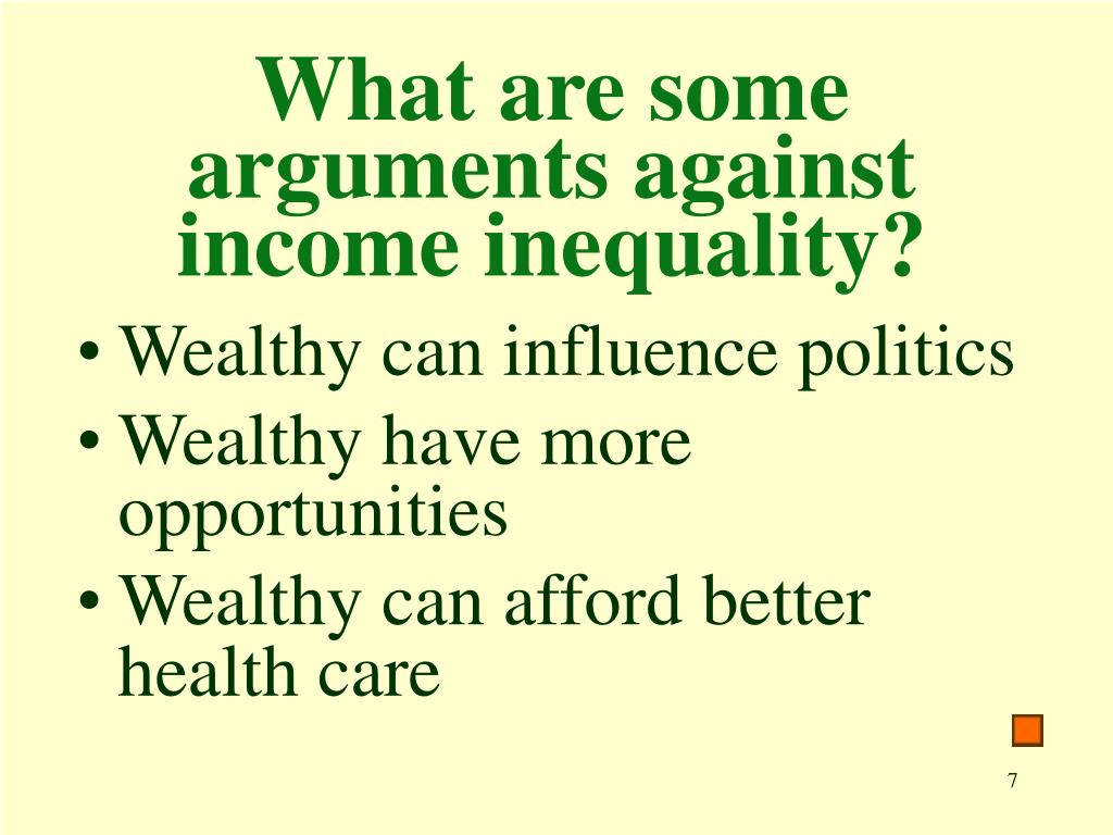 What are some arguments against income inequality?