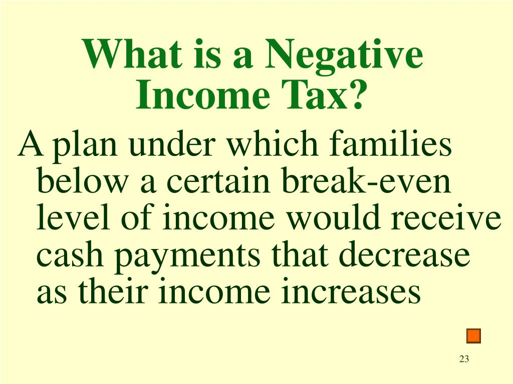 What is a Negative Income Tax?