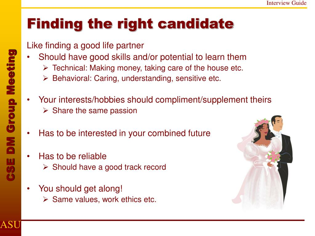 Finding the right candidate