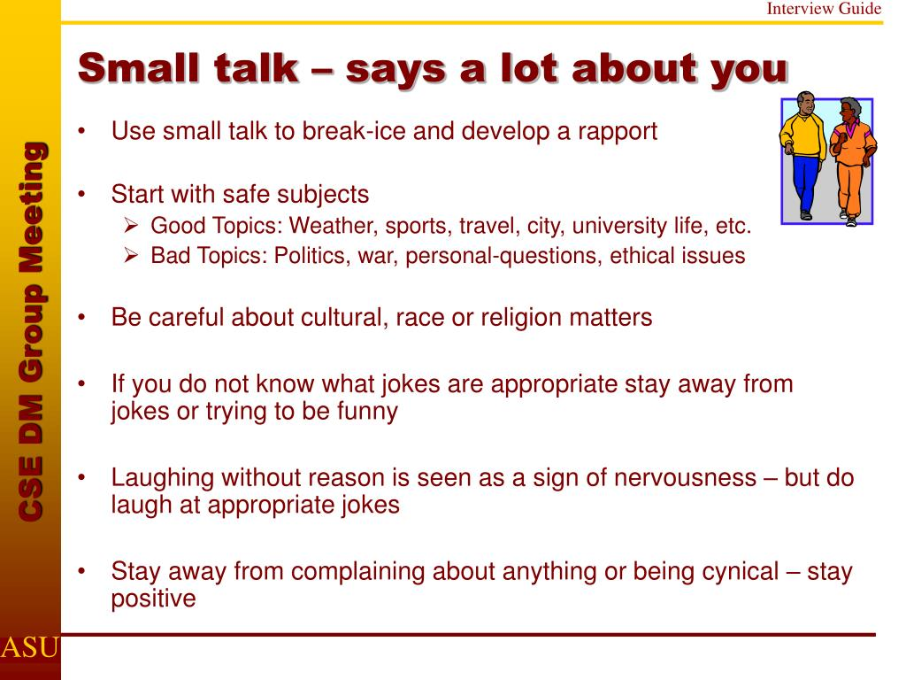 Small talk – says a lot about you