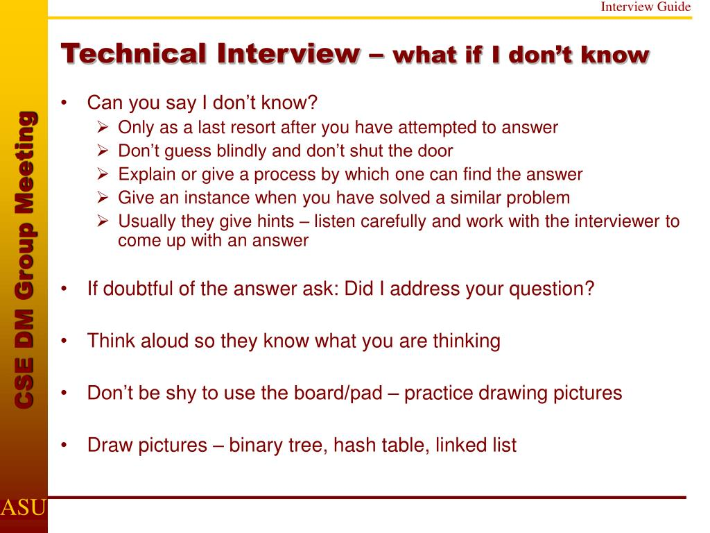 Technical Interview –