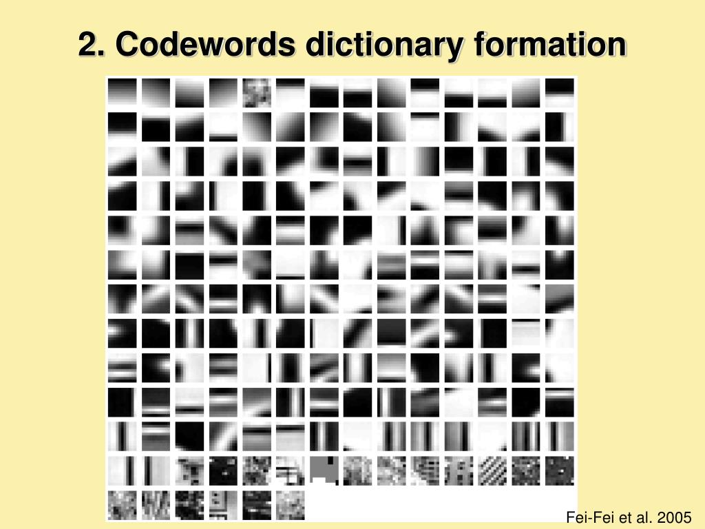 2. Codewords dictionary formation