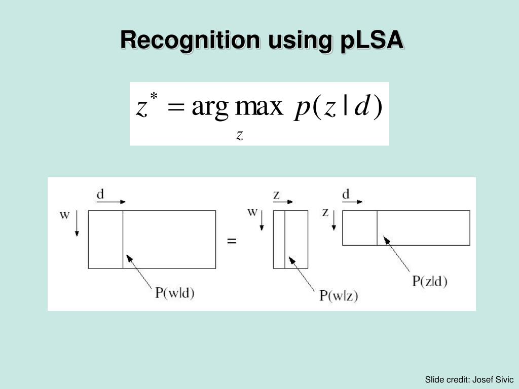 Recognition using