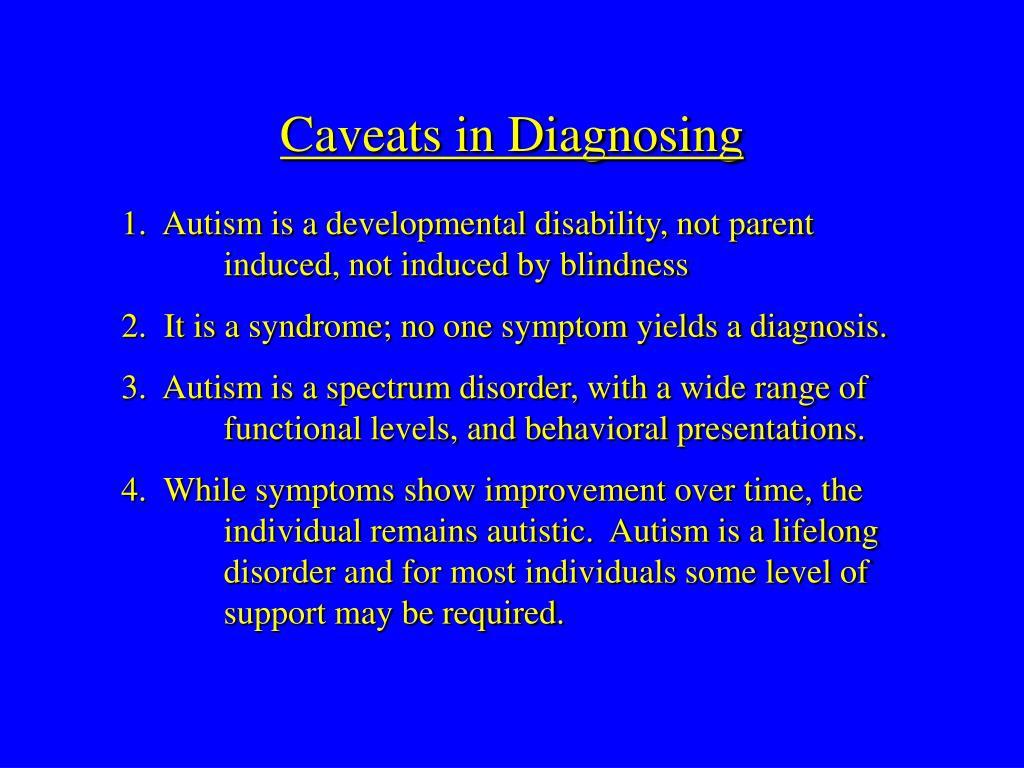 Caveats in Diagnosing