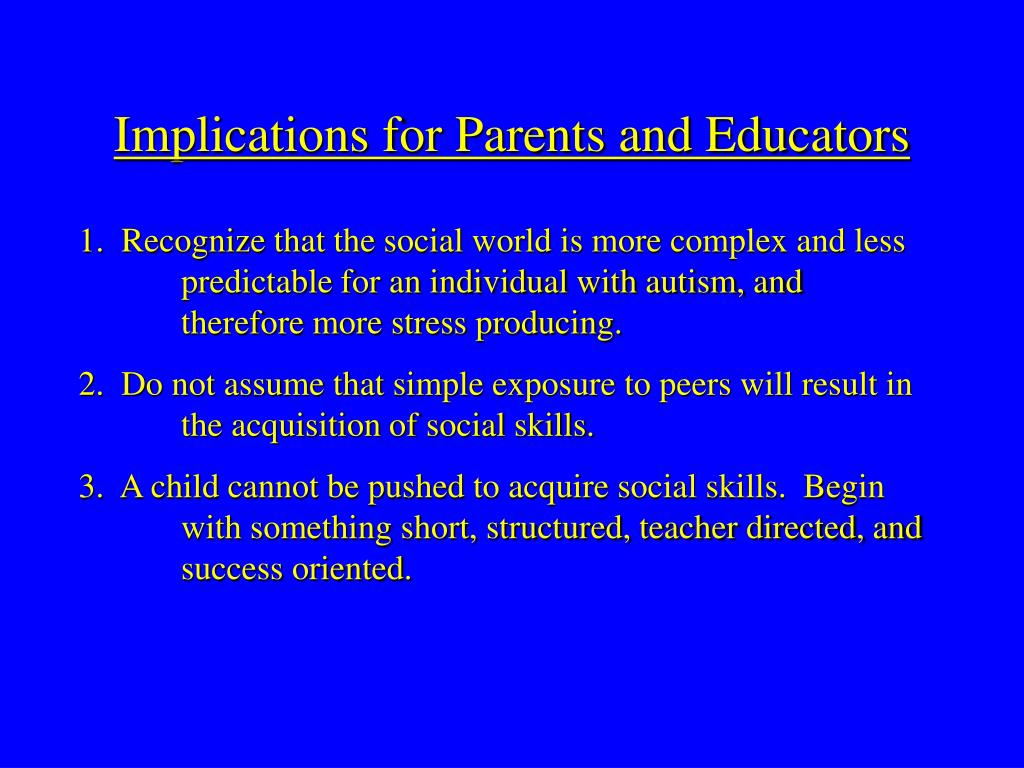 Implications for Parents and Educators