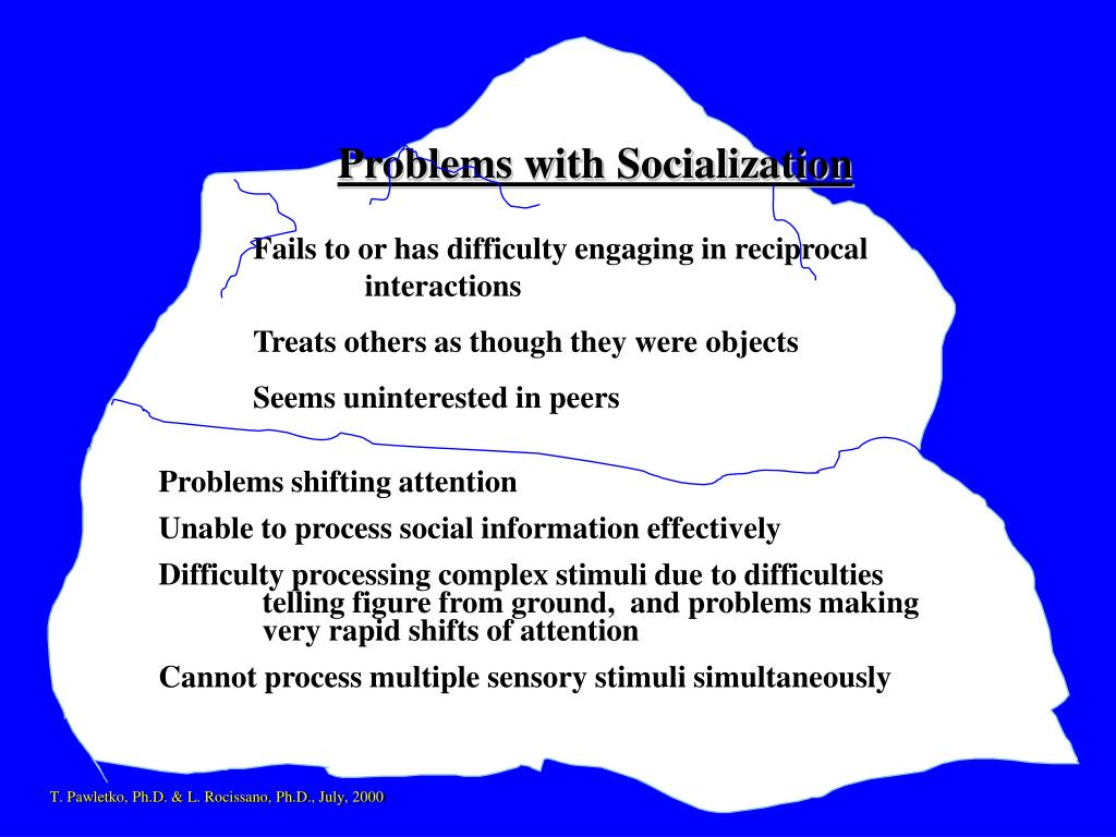 Problems with Socialization