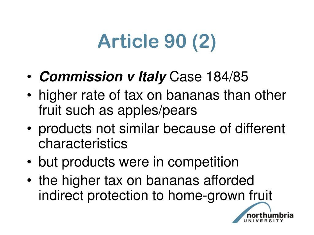 Article 90 (2)
