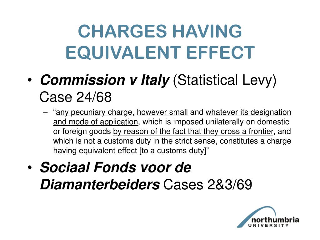 CHARGES HAVING EQUIVALENT EFFECT