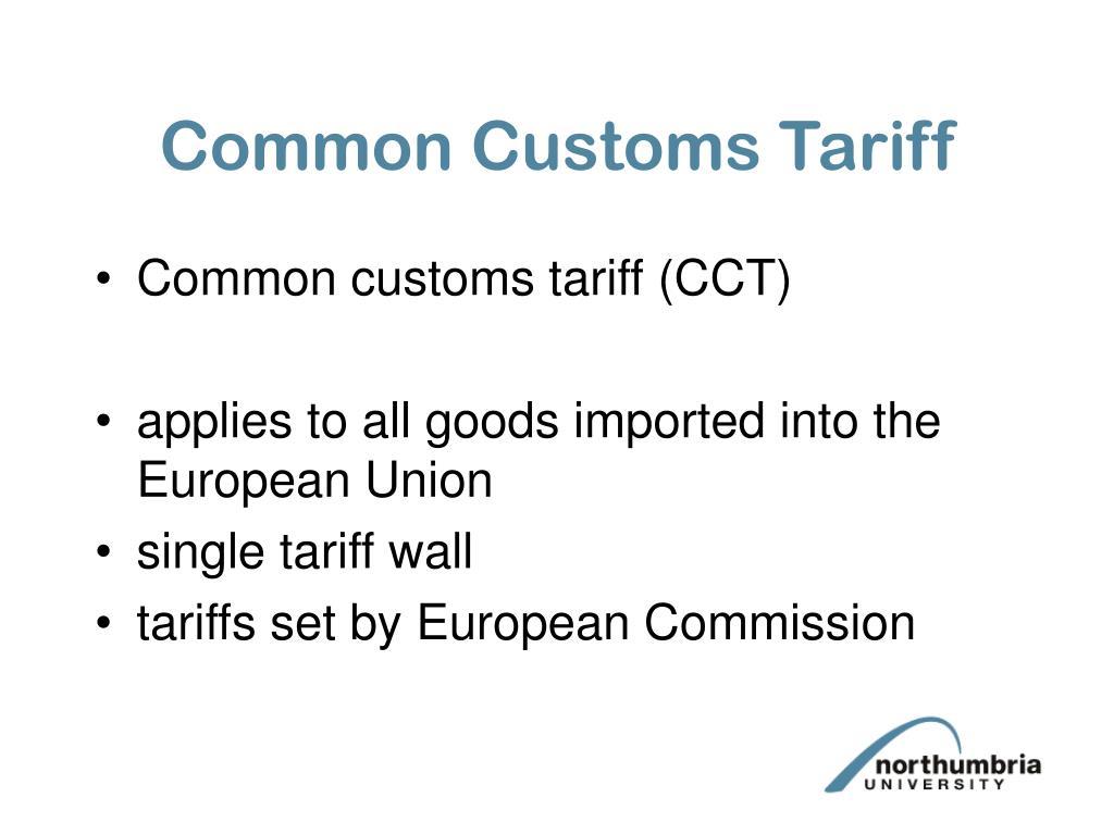 Common Customs Tariff