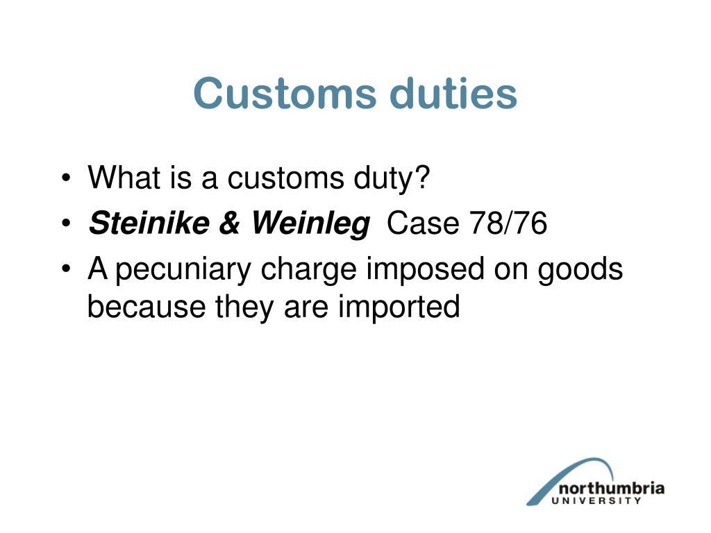 Customs duties