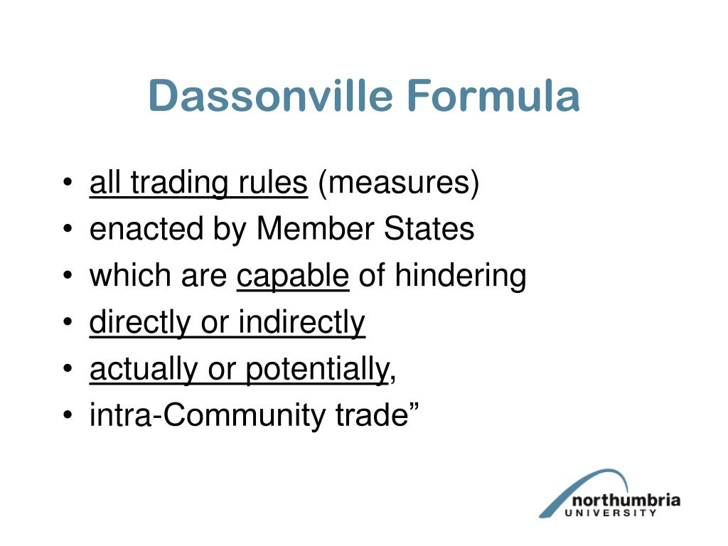 Dassonville Formula