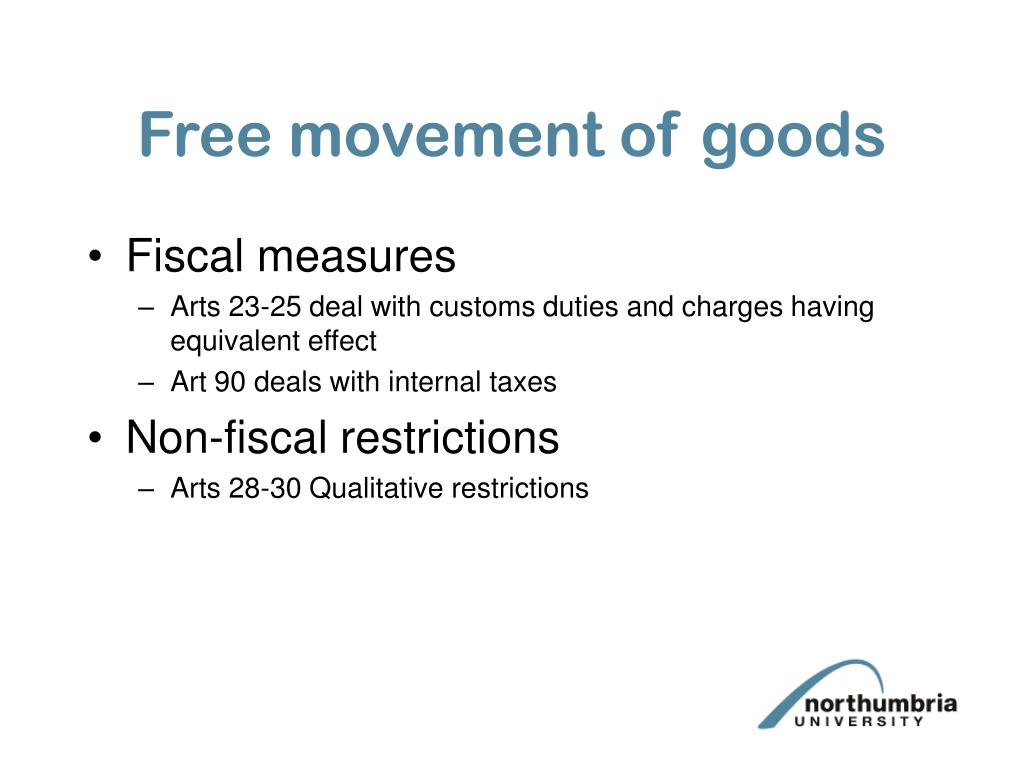 Free movement of goods