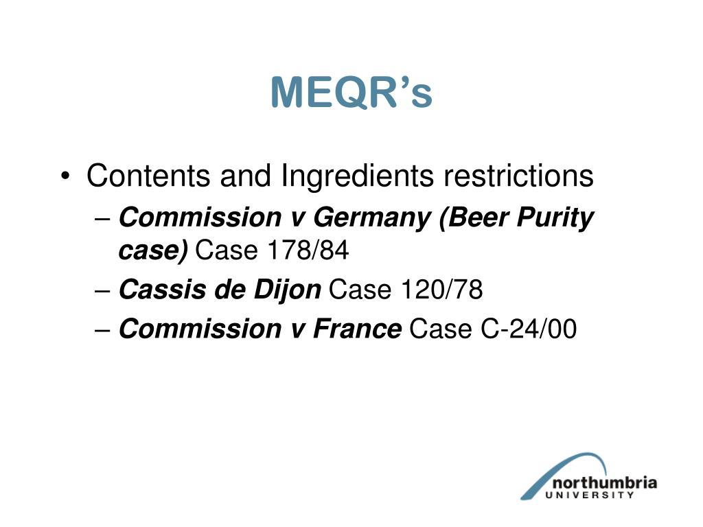 MEQR's