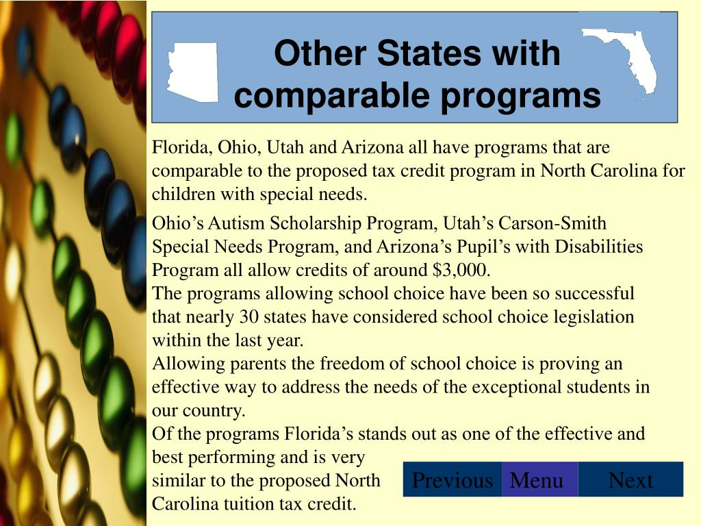 Other States with comparable programs
