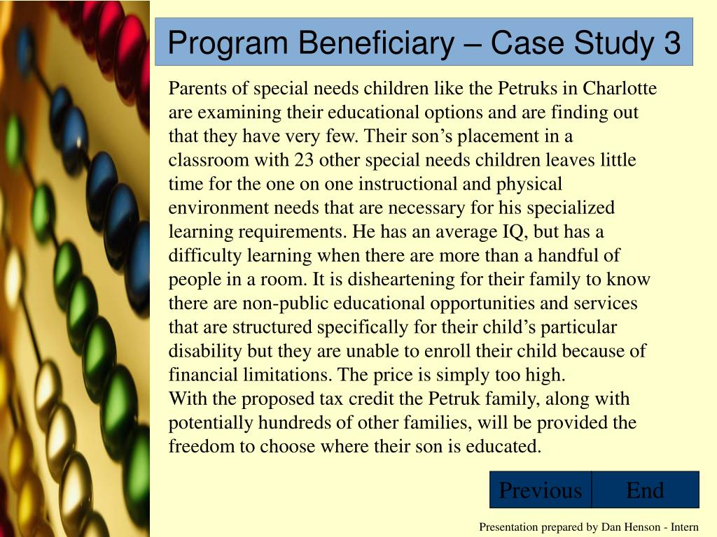 Program Beneficiary – Case Study 3