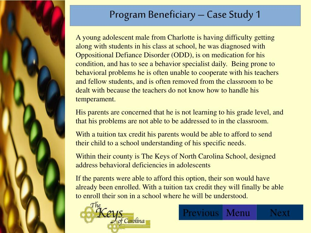 Program Beneficiary – Case Study 1