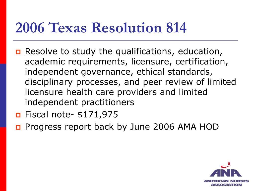 2006 Texas Resolution 814