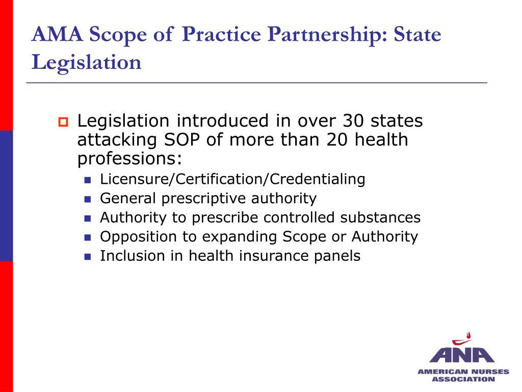 AMA Scope of Practice Partnership: State Legislation