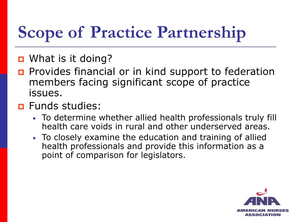 Scope of Practice Partnership