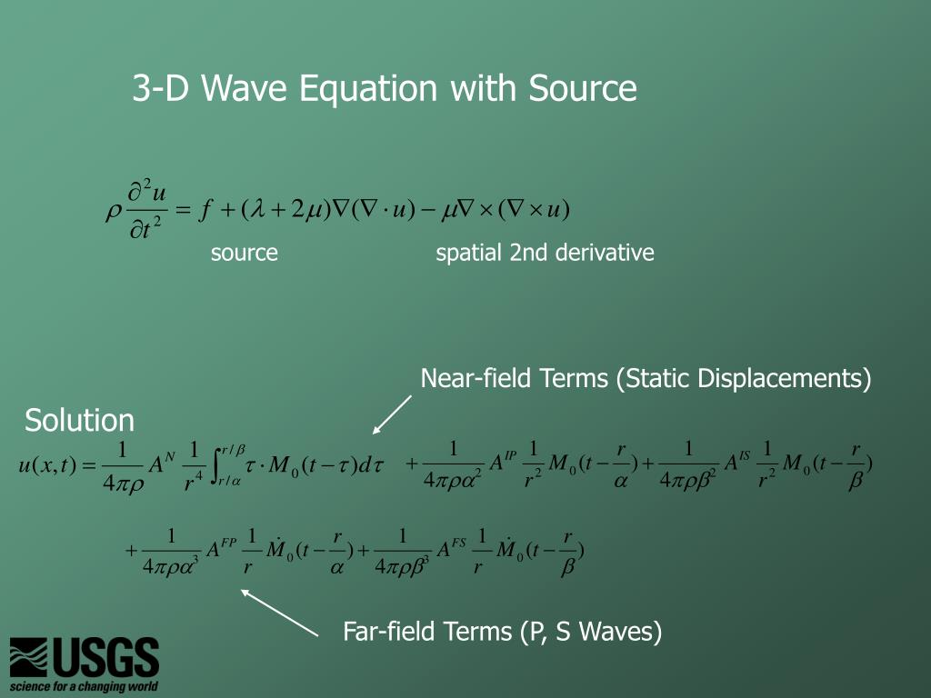 3-D Wave Equation with Source