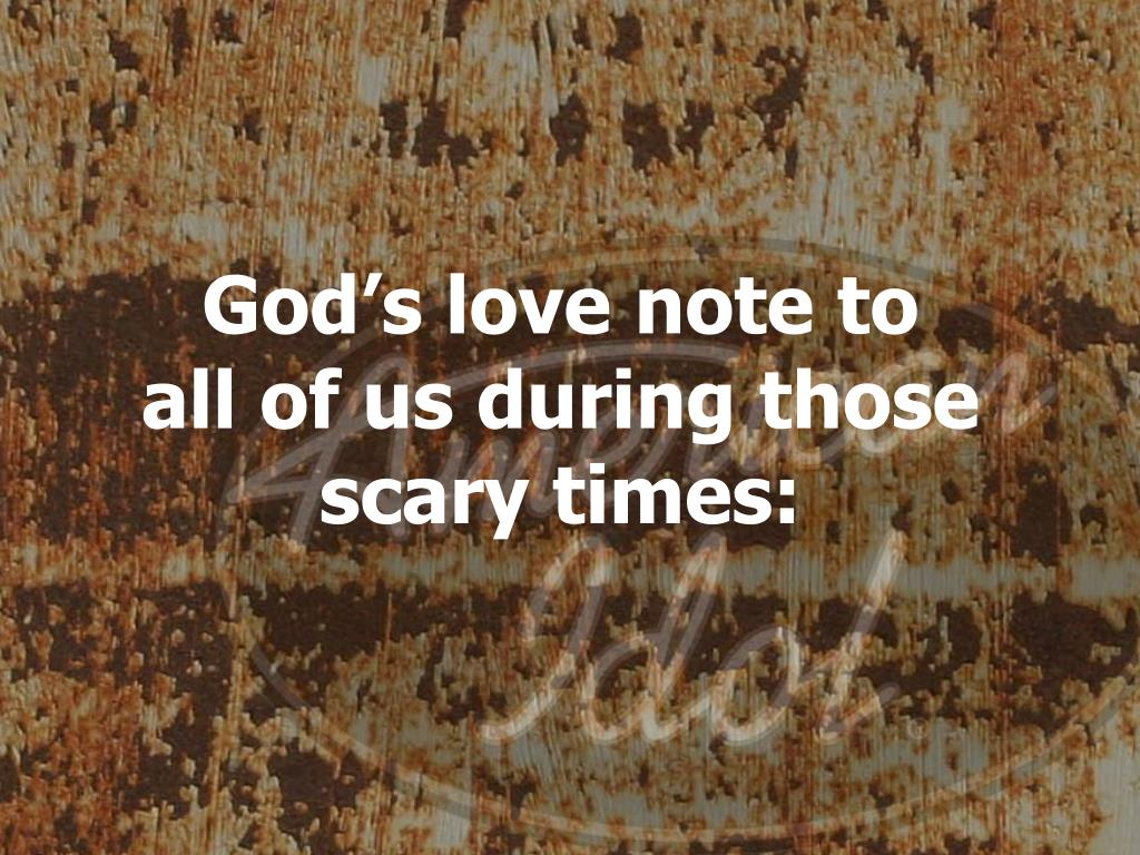God's love note to