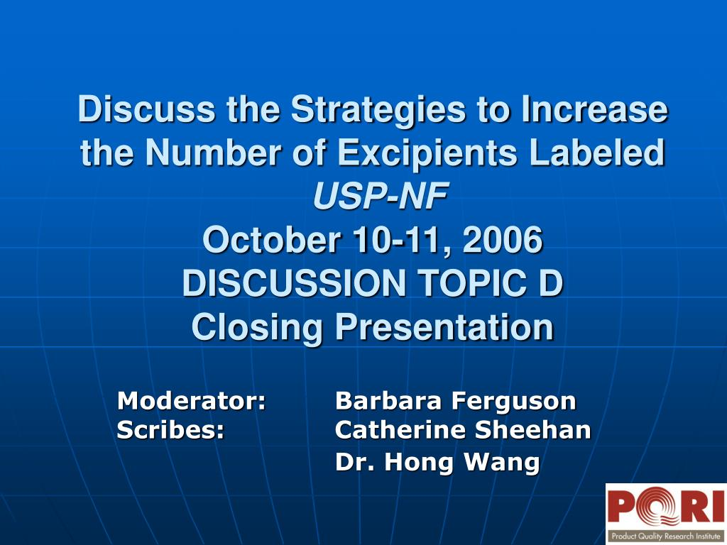 Discuss the Strategies to Increase the Number of Excipients Labeled