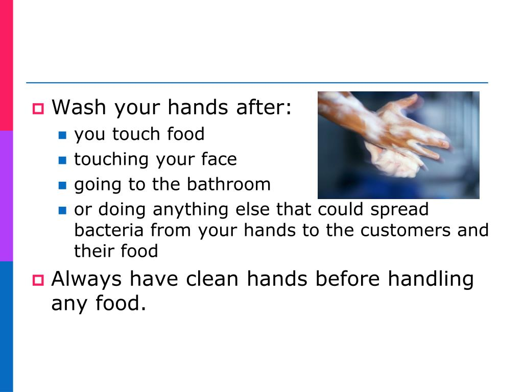 Wash your hands after: