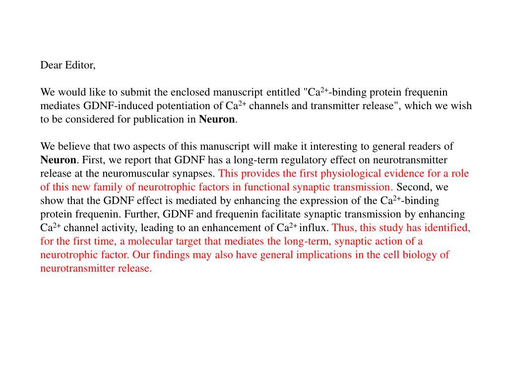 Dear Editor,