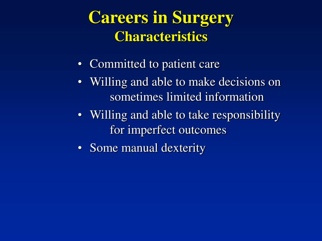 Careers in Surgery