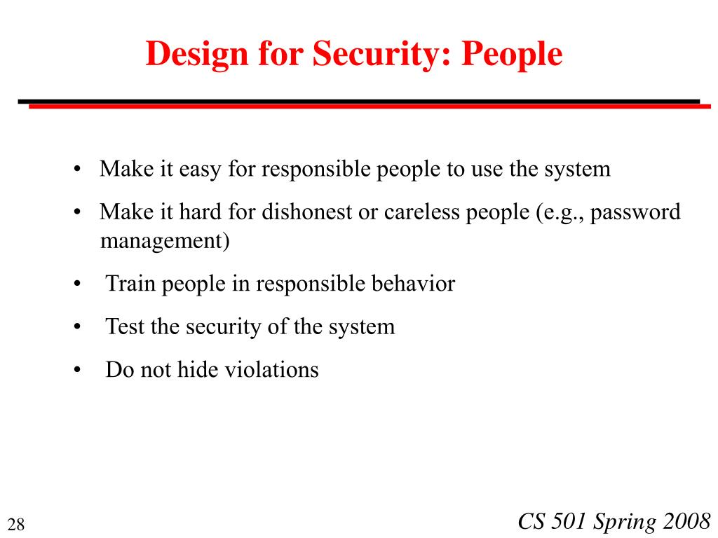 Design for Security: People