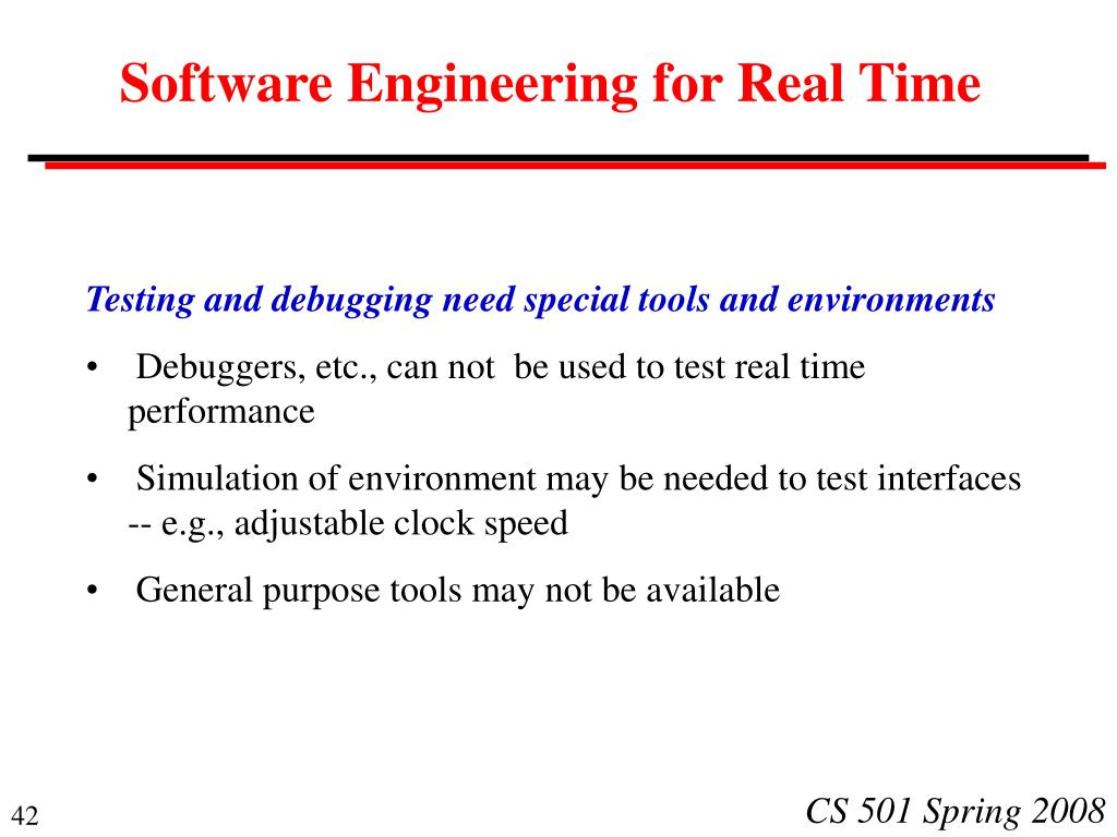Software Engineering for Real Time