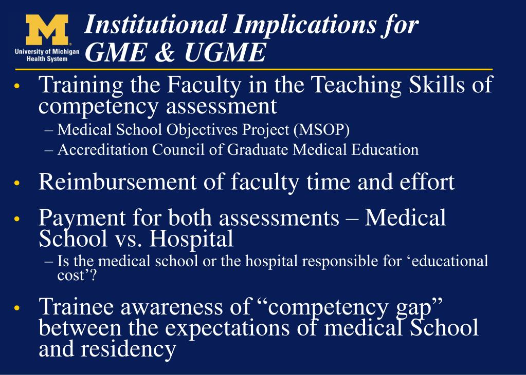 Training the Faculty in the Teaching Skills of competency assessment