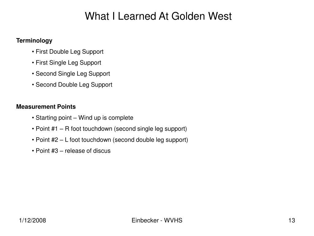 What I Learned At Golden West