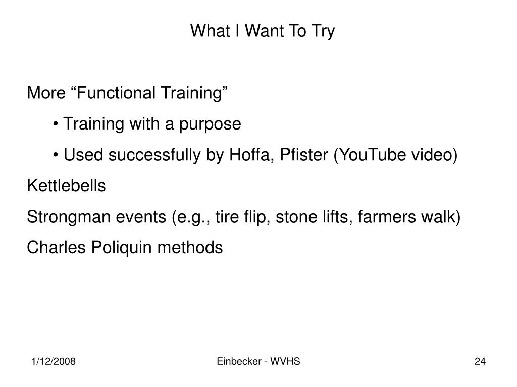 What I Want To Try